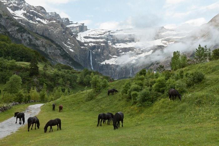Frankreich,Pyrenees,Gavarnie,Wasserfall