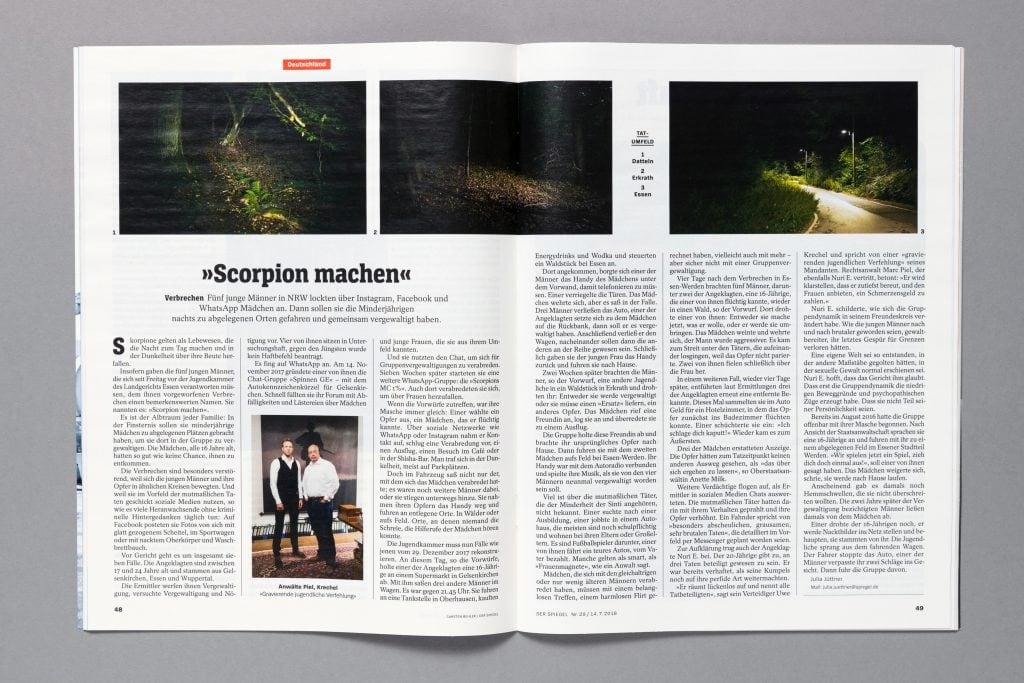 Carsten Behler Fotografie | Scorpion machen – DER SPIEGEL